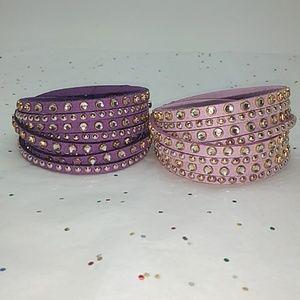 Jewelry - Set of two leather wrap bracelets.